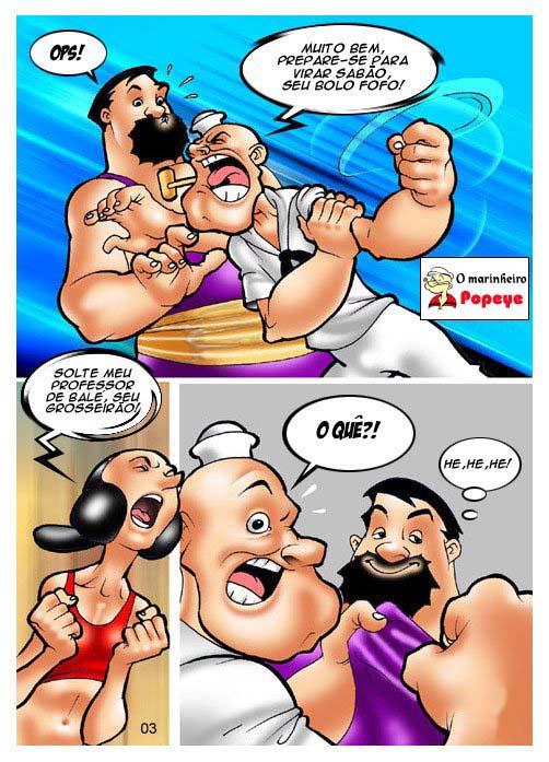 Popeye Hentai - Brutos o Professor de Balé